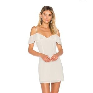 by the way Off the Shoulder White Dress
